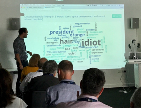 Vevox wordcloud example - Donald Trump