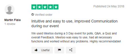 "Meetoo Trustpilot Review - ""improved comms"""