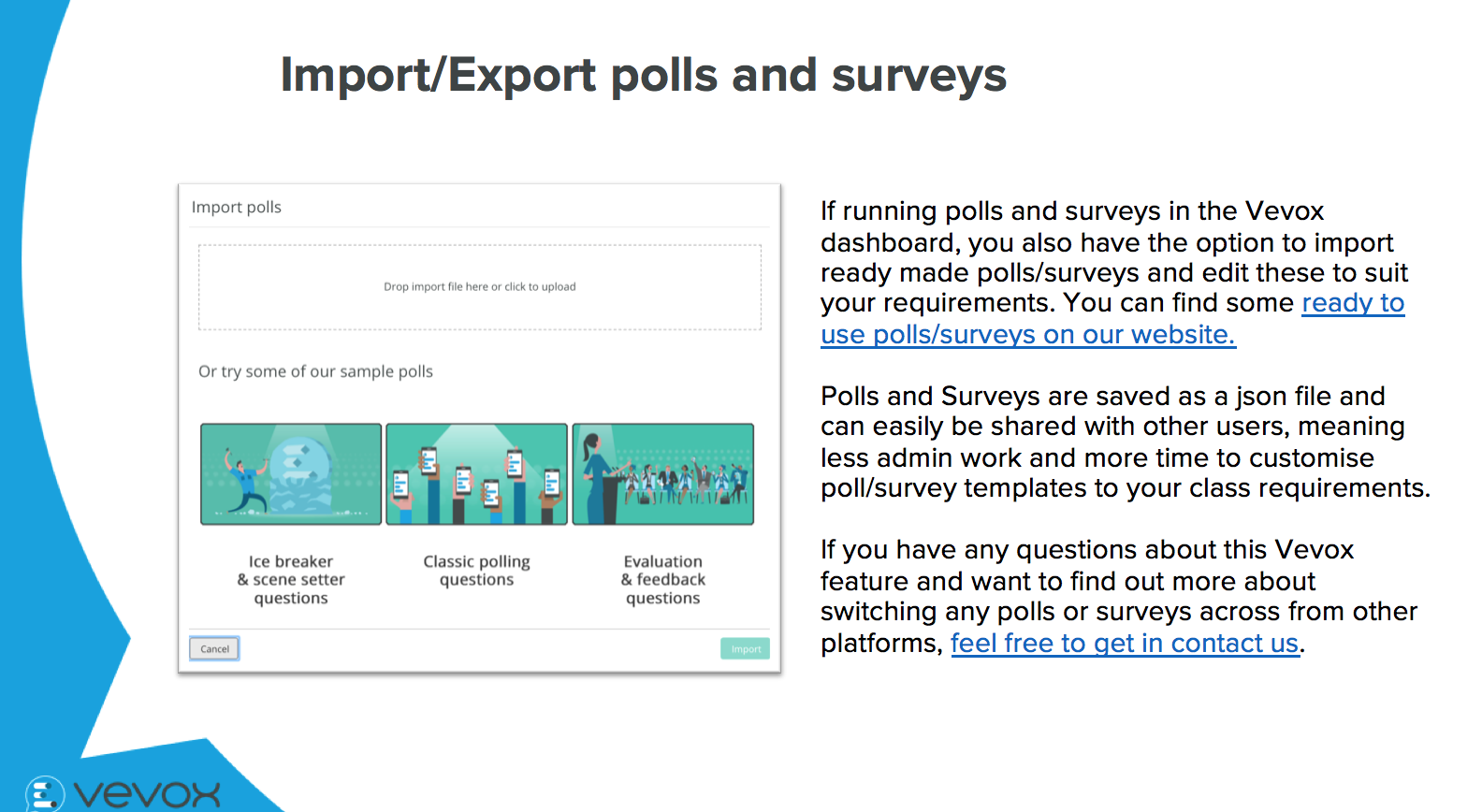 How to turn your current SRS polls into Vevox live polls