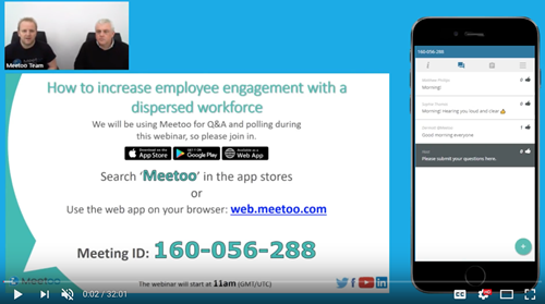 How to increase employee engagement with a dispersed workforce - webinar recording