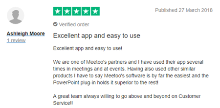 "Vevox Trustpilot Review - ""Excellent app"""