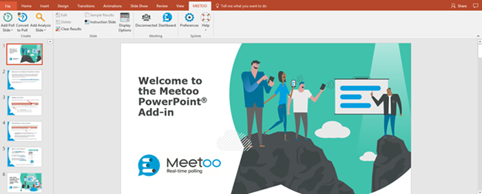 Meetoo PowerPoint polling add-in