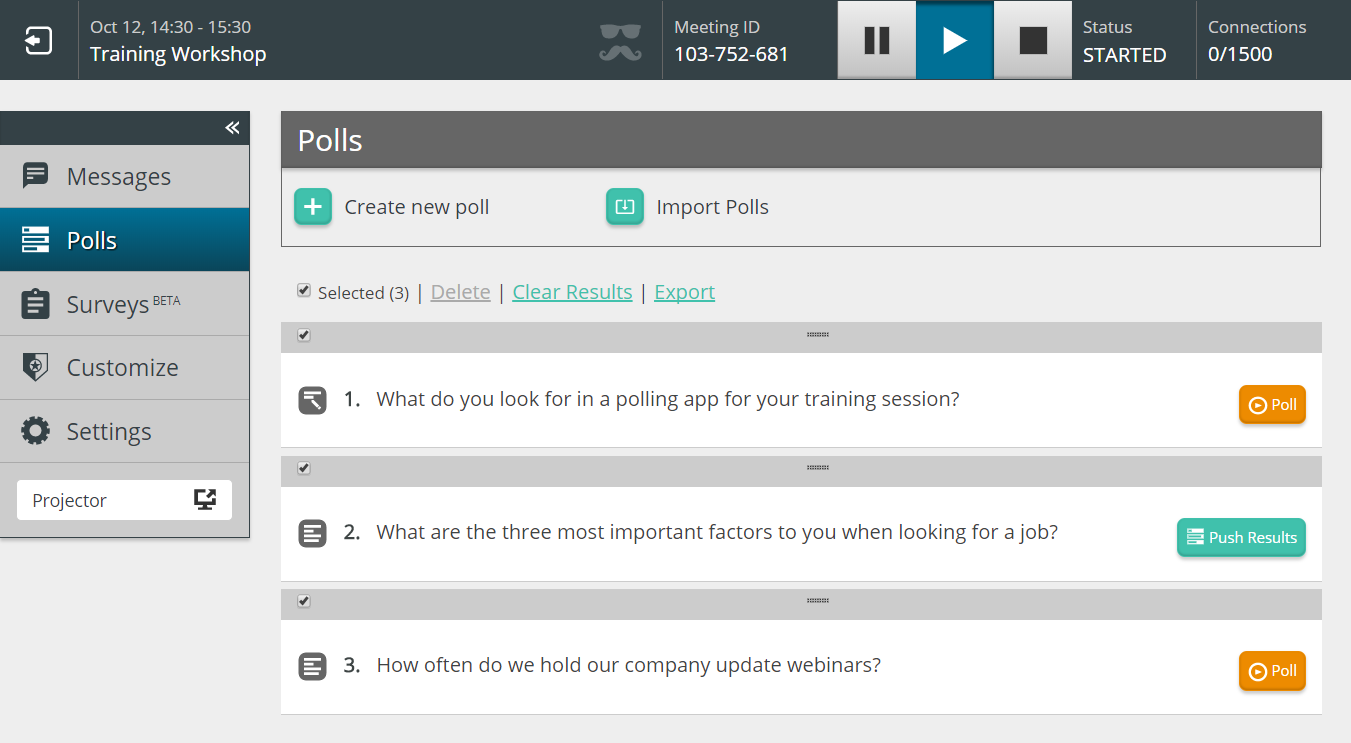 Winter Product Update - Introducing import/export for polls and surveys