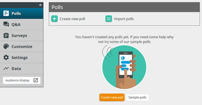 Polling in the dashboard