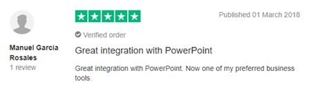 "Vevox Trustpilot Review - ""great integration with PowerPoint"""