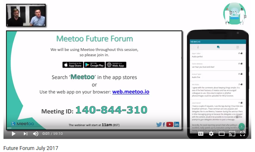 Meetoo 'Future Forum' - July 2017