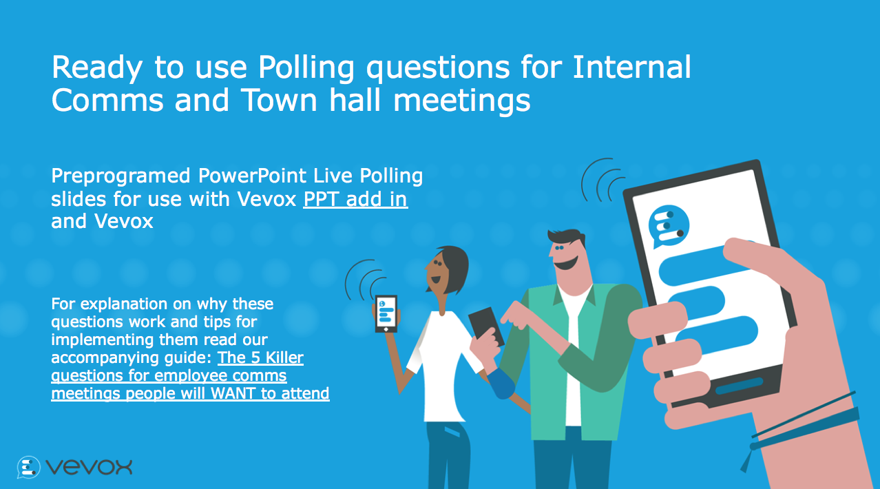 Ready to use polling questions for Internal Comms and Town Hall meetings